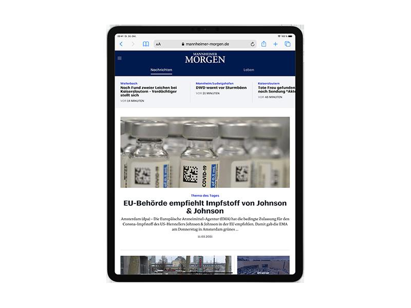 E-Paper-Abo Mannheimer Morgen